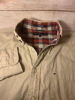 90's Tommy Hilfiger Harrington Tan Button Up Utility Jacket Size Large L