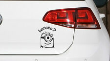 Minion Banana Aufkleber Fun JDM Sticker Decal aus Premium Folie