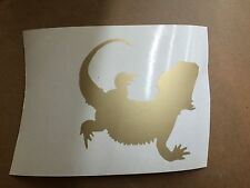 Bearded Dragon Vinyl Name Sticker Badge Picture Wall Art Car Sticker Design 3