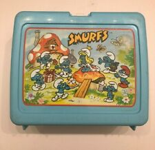 Vintage 1980s Thermos Smurfs Lunch Box