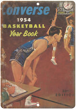 """1954 Converse Basketball Yearbook RARE 10"""" x 7"""" Reproduction Metal Sign"""