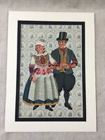 1932 Vintage Art Deco Stampa Olandese Matrimonio Abito Sposa Paesi Bassi Grande