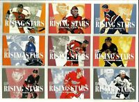 1995-96 FLEER ULTRA RISING STARS COMPLETE 10 Card Insert Set lot Mint Rare BV