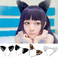 Orecchiette Cat Fox Long Fur Ears Anime Neko Party Costume Hair Headband Cosplay
