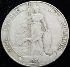 United Kingdom England 1 Florin 1908 92.5% Silver
