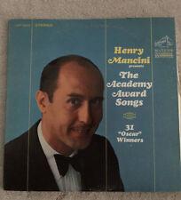 "Henry Mancini presents The Academy Award Songs 33 RPM 12"" LP POP 1960'S"