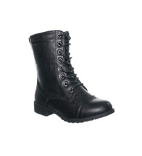 Girls Military Combat Boots