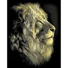 Reeves SCRAPERFOIL Engrave Art Kit Gold LION PORTRAIT Engraving
