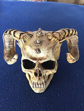 """MAYER SKULL WITH RAM HORNS,INCREDIBLE DETAILS.8''X7 """""""