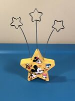 Disney Yellow Star Card Photo Note Holder 1928 2001 Hallmark Mickey Goofy Donald