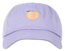 ANY MEMES PEACH DAD HAT STRAPBACK CAP CURVED BILL EMBROIDERED PURPLE UNISEX
