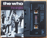 THE WHO - THE SINGLES (POLYDOR WHOHC17) 1984 UK CASSETTE TAPE COMPILATION ROCK