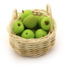 Miniatura Para Casa De Muñecas Cesta de hecho a mano Abuela SMITH manzanas