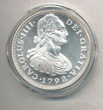 1792 Carolus IIII 1 oz .999 Fine Silver Round Exact Shown