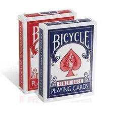 12 cubiertas Tarjetas Bicycle Rider Back old case (6 blu-6 rojo)