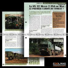 #vm100.02 ★ CAMION MAN SX32 MULTI 2 FSA (ALLEMAGNE) ★ Fiche Véhicule Militaire