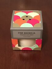 pink magnolia fragranced soy candle 4.4 ounces 125 grams new with box