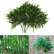 New 2 X Artificial Bamboo Leaf Plants Plastic Tree Branches 20 Leaves Home Decor