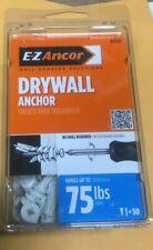 Drywall Anchor Twist-N-Lock Self-Drilling E-Z Ancor #25310 75 Lb, 50-Pack