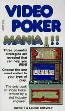 NEW Video Poker Mania Dwight and Louise Crevelt 1991 Paperback Betting Gambling