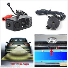 Multifunction 3in1 Car Parking Radar Reverse Backup Rear View Camera Waterproof