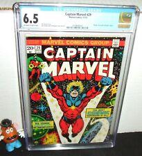 CAPTAIN MARVEL #29 MARVEL 1973 NEW POWERS THANOS DRAX CONTROLLER STARLIN CGC 6.5
