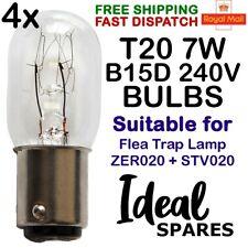 4 Pack of Zero In Flea Killer Trap Lamp Replacement 7W 240V Bulbs STV020 ZER020