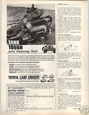 1964 PAPER AD Toyota Land Cruiser 135 HP 4 WD Car Auto Automobile