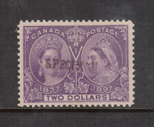 Canada #62SP Very Fine Mint Unused (No Gum) With Specimen Overprint