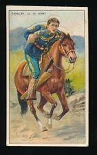 1910 T81 Recruit Little Cigars MILITARY SERIES -Cavalry (USA) Die-Cut