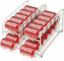 2 Pack Soda Beverage Can Pop Dispenser Refrigerator Organizer Stackable Rack-NEW