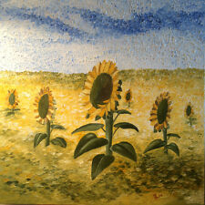 Sunflowers Original Oil Painting 24x24 on thick canvas 1.5""