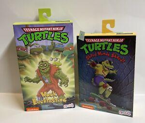 """NECA Ultimate 7"""" TMNT Mondo Gecko & Muckman Figures 2 Pack Bundle IN HAND, NEW"""