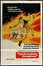 THE GROUNDSTAR CONSPIRACY George Peppard ORIGINAL 1973 1 SHEET MOVIE POSTER