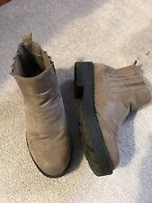 Ladies Atmosphere Light Brown Mock Suede Ankle Boots (Size 3)