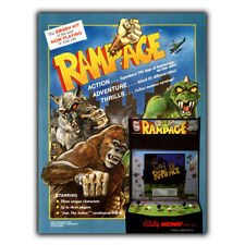 RAMPAGE ARCADE MACHINE METAL SIGN WALL PLAQUE retro poster man cave games room