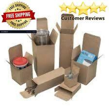 25 Pack 4 X 4 X 4 Reverse Tuck Mailer Cartons Kraft Folding Chipboard Box