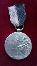 Antique Dutch Silver Metal 1924 cycling medal Bicycle Cycle A