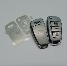 2A_Schlüssel-Dekor Cover Audi A1 A3 A4 A6 TT Q7 silber alu gebürstet