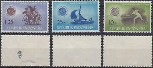 Indonesia 1963 Games of the New Emerging Forces part Sc-608, 12, 14 MVLH