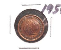 CIRCULATED 1957 1 CENT NETHERLANDS COIN! (011516)