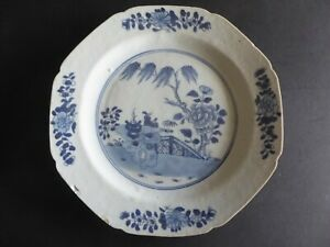 Chinese Blue And White Kangxi Plate Antique fine porcelain