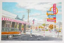 "Orig. Hawaii Watercolor Painting ""Leonard's Bakery Kapahulu II"" by L Segedin #23"