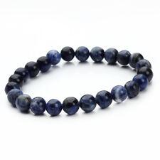 Fashion Women's Handmade 8MM Natural Stone Crystal Agates Beaded Yoga Bracelet