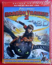 film blu ray disc 3D + 2D + DVD deluxe edition dragon trainer 2 cartoon dragon v