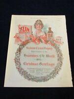 Vtg Original 1919 Sunbeam Co Christmas Ad Rit Flakes Ozol ++ Ad Qa43