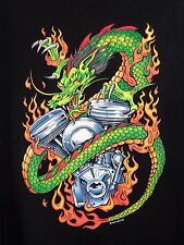 Hot Leathers Mens T Shirt 3X Black Motorcycle Biker Dragon Short Sleeve Cotton