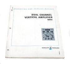 Manual Hewlett packard HP 1805a vertical amplifier, opération & service