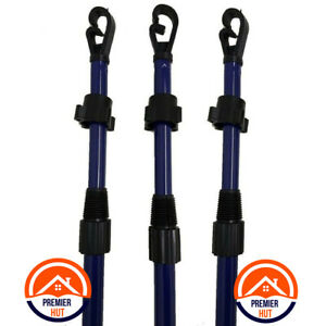 2.6M WASHING LINE HEAVY DUTY TELESCOPIC CLOTHESLINE SUPPORT PROP LAUNDRY POLE
