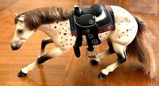Vintage 1998 Grand Champions Brumby Mare Racing Western Horse W/ Saddle Empire